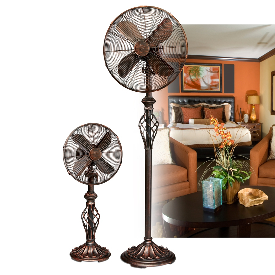 16 Adjustable Height Floor Fan Copper Shopsheonline Electric Pedestal Stainless Steel Of Prestige Rustica Stand Fans Collection